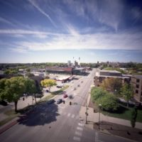 Pinhole Iowa City View of Wellness Center (2011/OCT), Ред-Оак