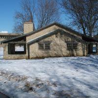 Canoe House (Lagoon Shelter House), Iowa City, IA in Winter 2008, Ред-Оак
