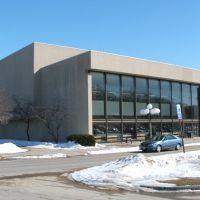 Clapp Recital Hall, Iowa City, IA in Winter 2008, Ред-Оак