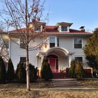 Historic Emma J. Harvat & Mary Stach House - Iowa City, Iowa, Ред-Оак