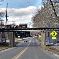 Cedar Rapids & Iowa City Railroad - N. Riverside Drive Overpass, Сагевилл