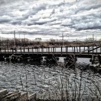 Timber Stringer Railroad Bridge Over Cedar Lake, Седар-Рапидс