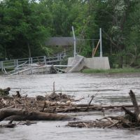 Flood of 2008: Historic Suspension Bridge destroyed, Чарльс-Сити