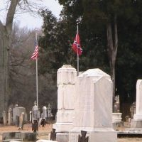 Confederate solders graves in Athens City Cemetery, Атенс