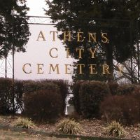 Athens City Cemetery, Атенс