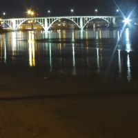 Broad Street Bridge and Coosa River at Night, Гадсден