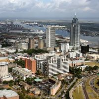 Aerial View of Downtown Mobile, Мобил