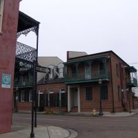 historic iron gallery buildings, Lower Dauphin St HD, Mobile (12-26-2011), Мобил