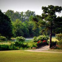 Walkway to the green on the Links in Tuscaloosa, Alabama, Нортпорт