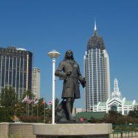 Renaissance Riverview Plaza, dIberville statue, RSA Tower, Mobile Convention Center, Причард