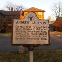 Historical Marker - Andrew Jackson, Хунтсвилл
