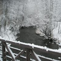 Chester Creek in winter, Анкоридж