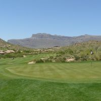 Looking Back Down the 16th of the Dinosaur Mountain Course at Gold Canyon Golf Resort, Arizona - June 2008, Кашион