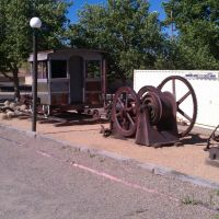 Old mining equipment at the sharlot museum., Прескотт