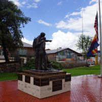 2013, Boy Scout Statue, Miller Valley School, Prescott, AZ, Прескотт