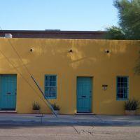 Maison jaune, Barrio Viejo, Tucson, AZ, Тусон