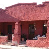 Maison rouge à piliers, Barrio Viejo, Tucson, AZ, Тусон