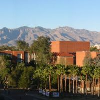 University of Arizona and Catalina Mountains, From Sonora Hall, Тусон