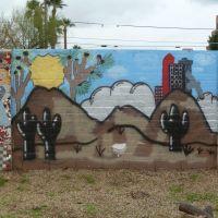 Phoenix, AZ: Mural Wall, Peace, Love, Native Pride, Финикс