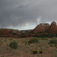 Rain Over Red Rocks, Fort Defiance Valley, New Mexico, Форт-Дефианс