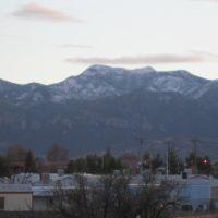 snow on Huachuca mountains, Sierra Vista, Форт-Хуачука
