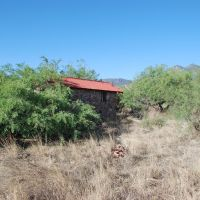 Old building in the mesquite at Fort Huachuca, Форт-Хуачука