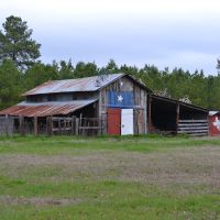 Texas pride shown on this barn.(note bicycles on roof), Бакнер