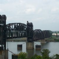 TRAIN BRIDGE OVER ARKANSAS RIVER, Брадфорд