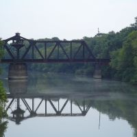 Judsonia railroad bridge from vehicle traffic bridge, Кенсетт