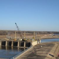 Hydroelectric Plant, Arkansas River at Lock & Dam 13, Киблер