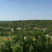 Atop a bluff overlooking Cotter, AR, Коттер