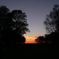 Sunset at Chenault Park, Monroe, LA, Смаковер