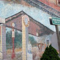 2010, Hardy, Ar, USA - wall mural, Харди