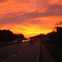 Sunset near Forrest City on I40, Хоппер