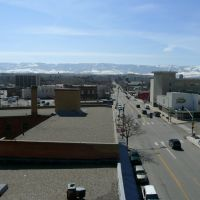 Viewing south on Center St., between Midwest Ave. and 2nd St., from atop public parking garage. Casper, Wyoming, Каспер