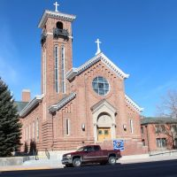 Looking west-north-westerly at St. Anthonys Catholic Church, 604 S. Center St., Casper, Wyoming., Каспер