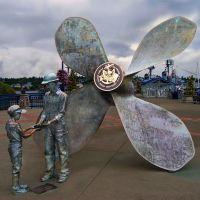 Public Art, Bremerton Marina, Bremerton Washington, Бремертон