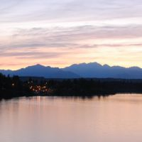 olympic mountains from warren avenue bridge, Бремертон