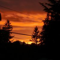 Sunrise with the telephone wires & Cascade mtns., Интерсити