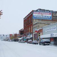 A November snow storm, Main Street, Colfax, WA., Колфакс