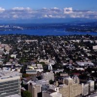 Bellevue and Mercer Island from Columbia Center, Медина