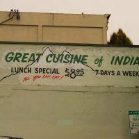Wall art, Great Cuisine of India, Olympia, WA, Олимпия