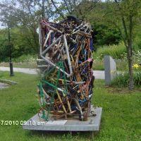 Bike Parts Statue Across from Hunger Mountain Co-Op Montpelier, VT, Ривертон