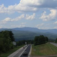 Mountains from I-89 overpass in Berlin VT, Ривертон