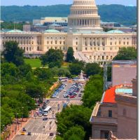 The Capitol and Pennsylvania Ave, Washington DC, Рос-Хилл