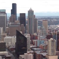 View Of Downtown From The Space Needle, Сиэттл