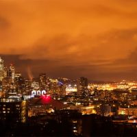 Seattle by night, panorama, Сиэттл