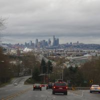 View on downtown Seattle from 1st Avenue South., Уайт-Сентер