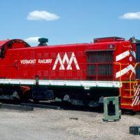 Vermont Railway Alco S4 No. 6 at Burlington, VT, Берлингтон