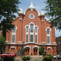 Old Alexandria town, VA, United Methodist church, Александрия